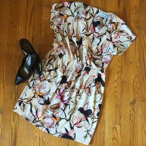 NWT Closet London Cream/Floral Dress